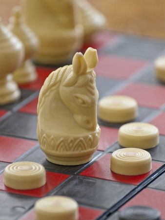 predicament: The Thai chess on the black & red table