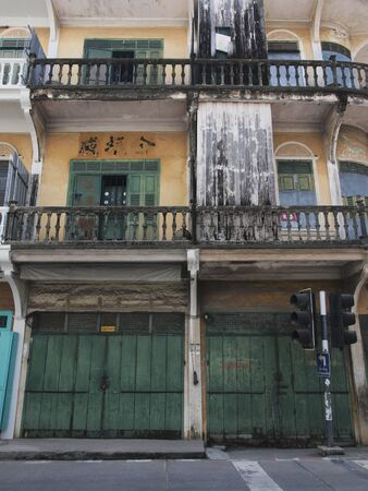 row house: The old row house in southern Thailand