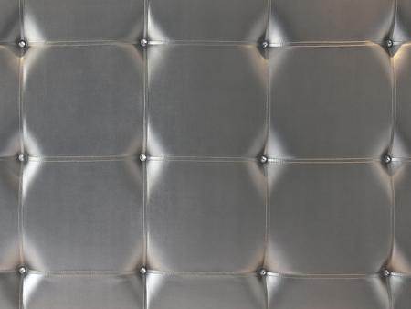 leatherette: The grey leatherette of headboard furnishing