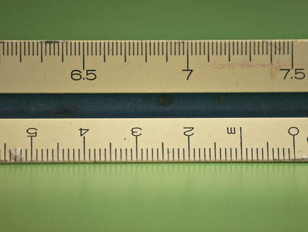 centimetre: The scale tool in green background