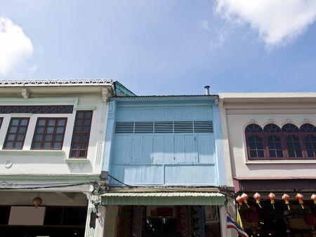 orificio nasal: la antigua vivienda Sinoportuguesa en Phuket, Tailandia Editorial