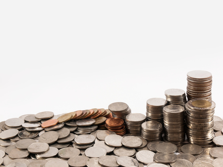 argent: coins Stock Photo