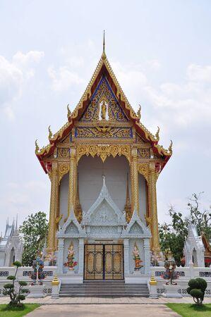 grand pa: Church Wat Bangpai, Bangkok Thailand Stock Photo