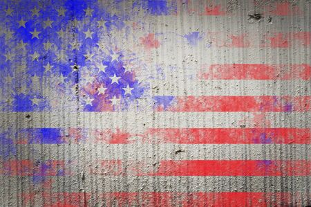 american history: Grunge Textured Of Usa Flag For Usa Independence Day
