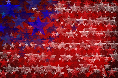 forth: Grunge Textured Of Usa Flag For Usa Independence Day
