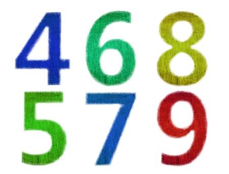 Number grunge texture photo