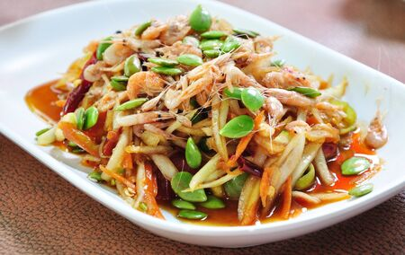 thai noodle: Herb salad ( Thai food) Stock Photo