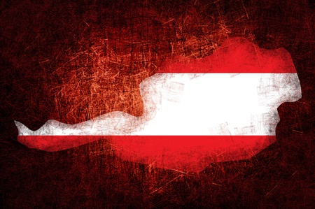 terra: Grunge textured Austria flag Stock Photo