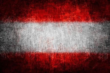 Grunge textured Austria flag photo