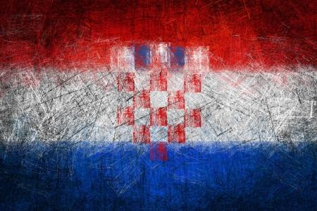 bandera croacia: Bandera de texturas grunge