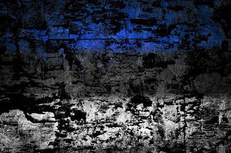Grunge textured Estonia flag photo
