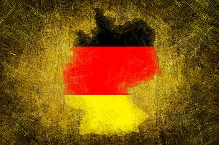 Grunge textured Germany flag photo