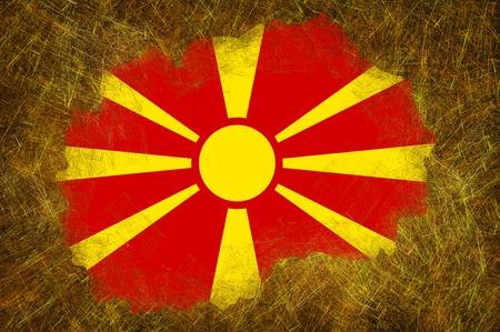 Grunge textured Macedonia flag photo