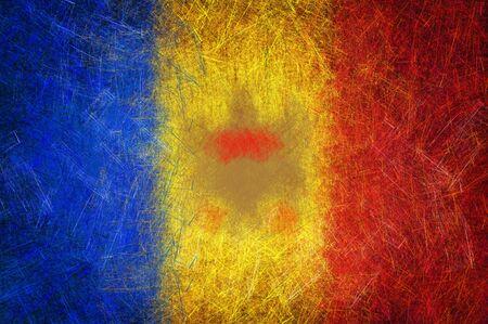 Grunge textured Moldova flag photo