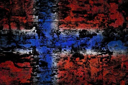 Grunge textured Norway flag Stock Photo - 10326692