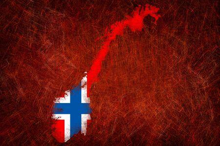 Grunge textured Norway flag photo