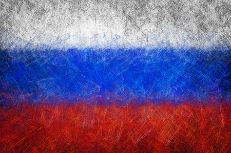 Grunge textured Russia flag Stock Photo - 10326697
