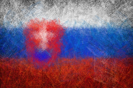 Grunge textured Slovakia flag photo