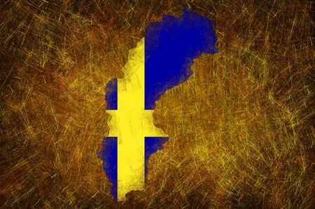 sweden flag: Grunge testurizzati bandiera Svezia