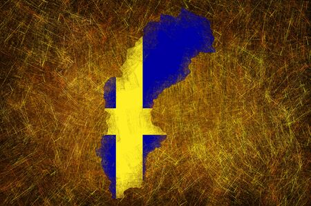 schweden flagge: Grunge texturiert Schweden Flagge