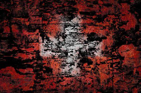 Grunge textured Switzerland flag photo