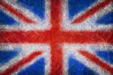 Grunge textured United Kingdom flag Stock Photo - 10353151