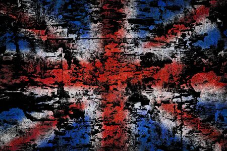 Grunge textured United Kingdom flag photo