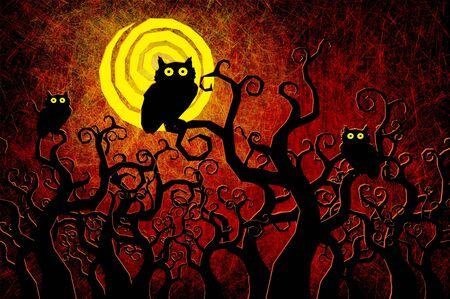 Grunge textured Halloween night background Stock Photo - 10659479