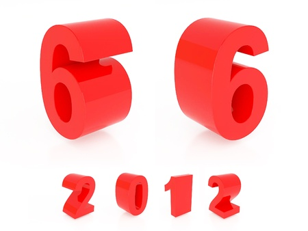 Red number isolated photo