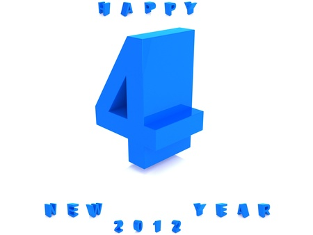 Blue number isolated photo