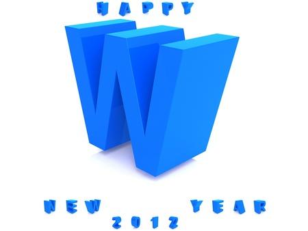 Blue alphabet isolated photo