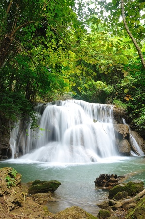 Hui Mea Khamin Waterfall, Kanchanabury, Thailand Stock Photo - 11281866