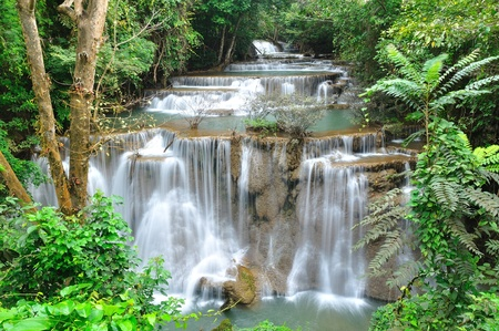 Hui Mea Khamin Waterval, Kanchanabury, Thailand