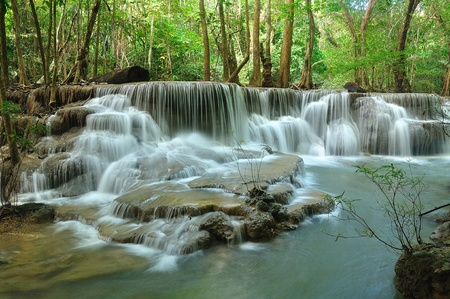 Hui Mea Khamin Waterfall, Kanchanabury, Thailand photo