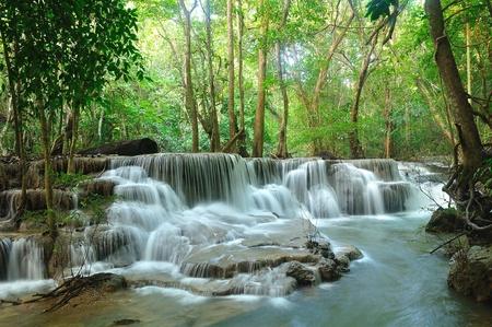 Hui Mea Khamin Waterfall, Kanchanabury, Thailand Stock Photo - 11281763
