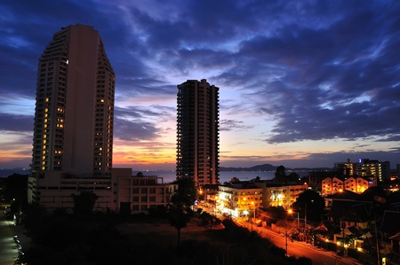 Pattaya on sunset photo