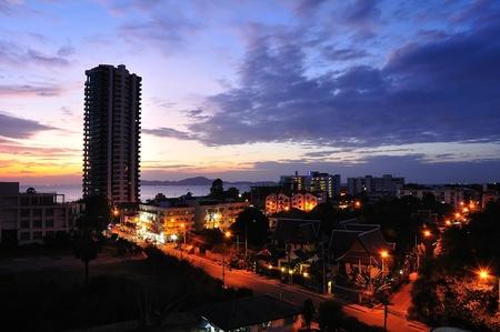 Pattaya on sunset Stock Photo - 11465423