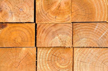 sawed: Wood piling up