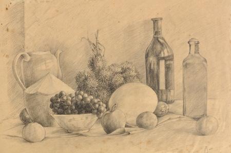 apple cinnamon: Original hand drawn, Fruit