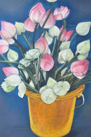 Original hand painting, Lotus photo
