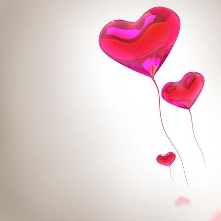palloncino cuore: Cuore rosso palloncino colorato per sfondo San Valentino
