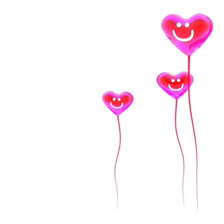 Heart balloon colored red for valentines day background photo