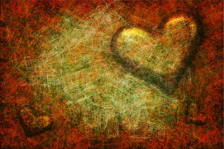 grunge heart: Grunge textured for Valentines day