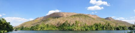 River in the forest with the sky,Local name say river kwai, Kanchanabury,  Thailand photo