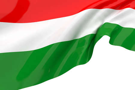 Vector Flags of  Hungary photo