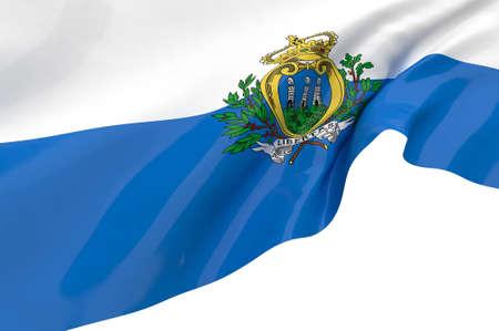 marino: Vector Flags of San marino Stock Photo
