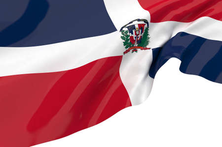 Vector Flags of Dominican Republic photo