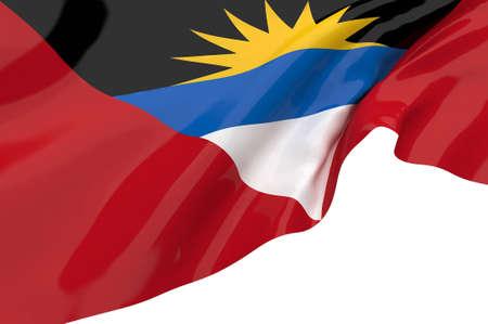antigua: Vector Flags of Antigua and Barbuda Stock Photo