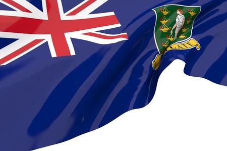 virgin islands: Vector Flags of British Virgin Islands Stock Photo