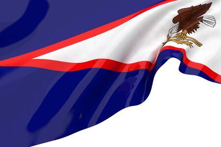 samoa: Illustration flags of American Samoa